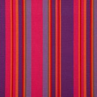 Toile extérieure Téflon grande largeur rayé rouge, violet, rose et orange