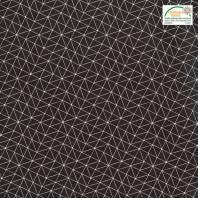Coton noir motif graphique blanc