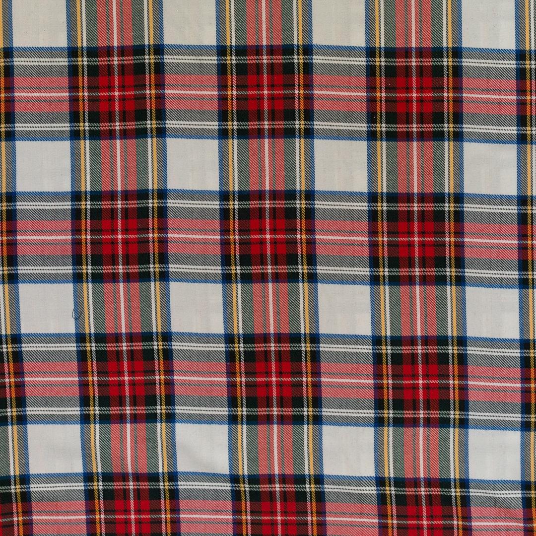 Tissu tartan blanc bleu et rouge pas cher tissus price - Tissus rouge pas cher ...