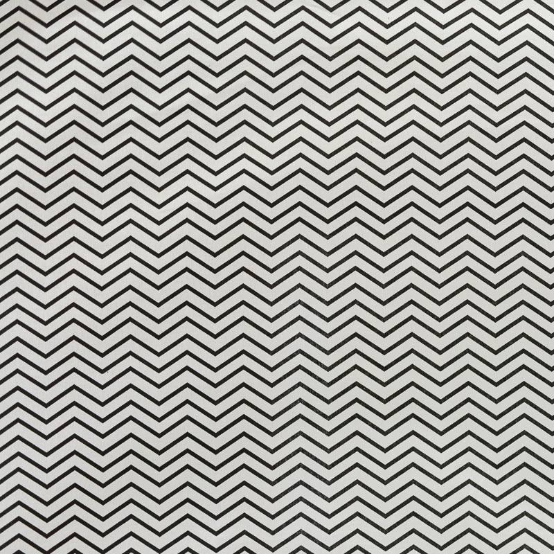 coton blanc motif chevron noir pas cher tissus price. Black Bedroom Furniture Sets. Home Design Ideas