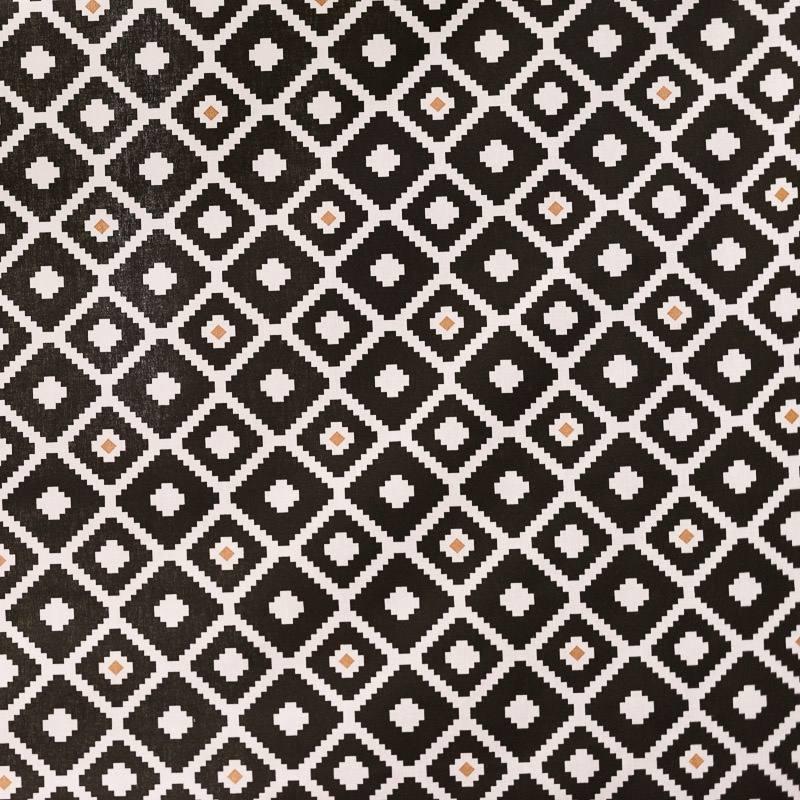 Coton noir et blanc imprim ethnique pas cher tissus price - Toile noir et blanc pas cher ...