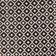 Coton noir et blanc imprimé ethnique