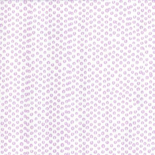 Rouleau 20m Coton percale blanc imprimé graine de café parme grande largeur