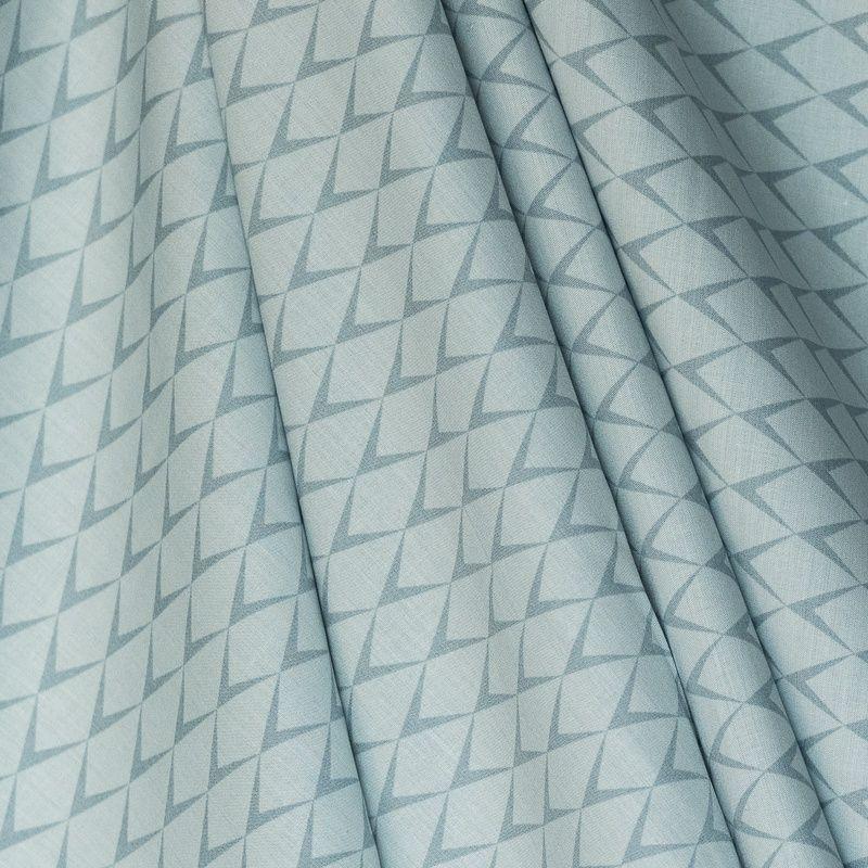 Coton percale vert d'eau motif écailles grande largeur