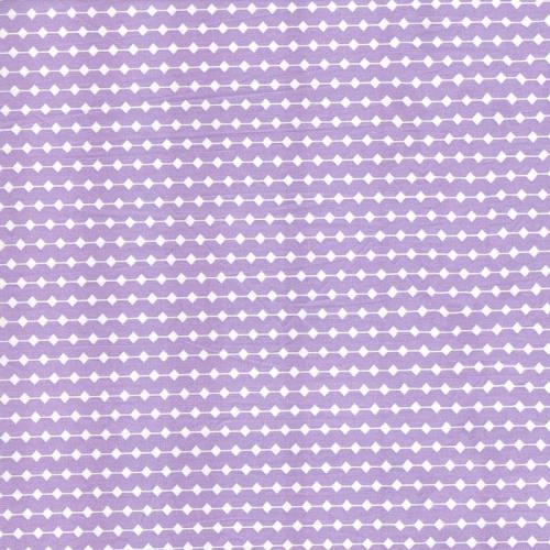 Rouleau 20m Coton percale parme motif frise grande largeur