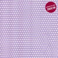 Coton percale parme motif frise grande largeur