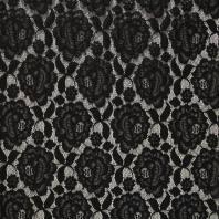 Dentelle extensible noire motif fleur