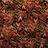 Jersey viscose imprimé zig zag multicolore