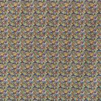 Popeline coton multicolore motif vintage