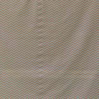 Popeline coton zig zag corail et rouge