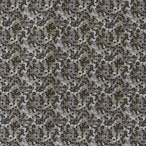 Popeline coton gris et noir motif vintage