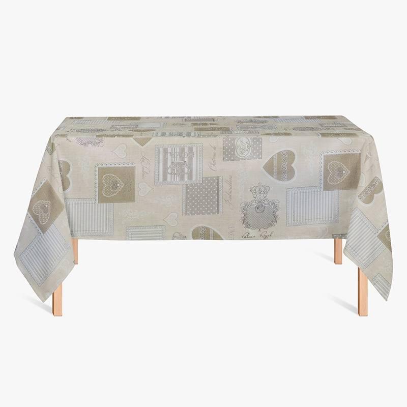 coton enduit royal beige et gris pas cher tissus price. Black Bedroom Furniture Sets. Home Design Ideas