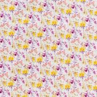 Popeline coton violet à motif aquarelle