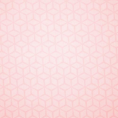 Popeline coton rose pastel motif scandinave