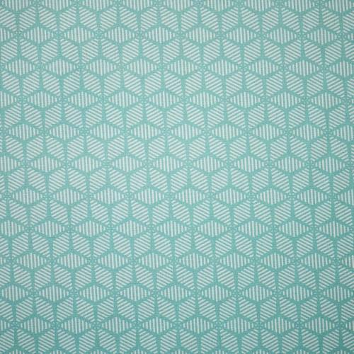 Popeline coton vert d'eau motif scandinave