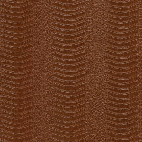 Simili cuir croco marron