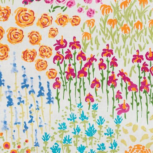 Coton multicolore imprimé dessin de fleurs