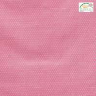 Coton rose petit motif asanoha blanc