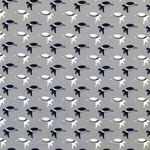 Jersey gris imprimé tortue