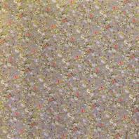 Tissu microfibre gris imprimé flower