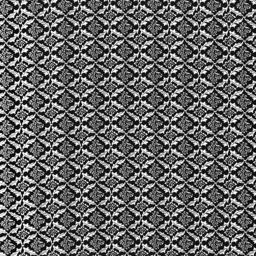 Tissu mousseline noir imprimé fleuri