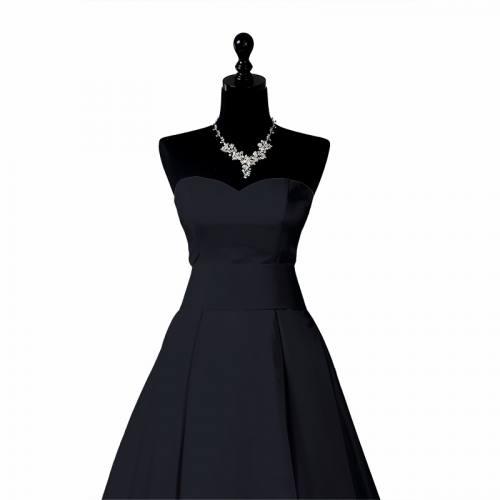 Satin duchesse bleu nuit