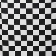 Satin à carreaux noir et blanc