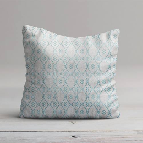 Jacquard turquoise motif losange