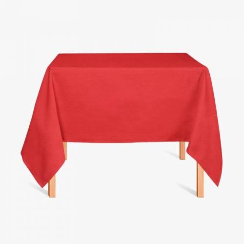 Tissu enduit rouge