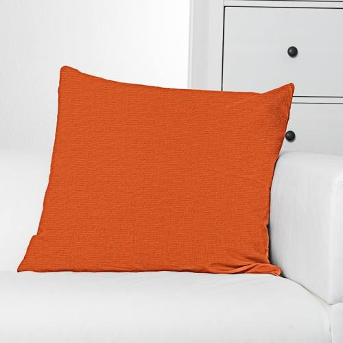 Toile polycoton orange grande largeur