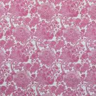 Toile polycoton imprimée mandala fleuri rose grande largeur