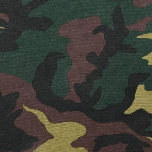 Toile polycoton imprimée camouflage grande largeur