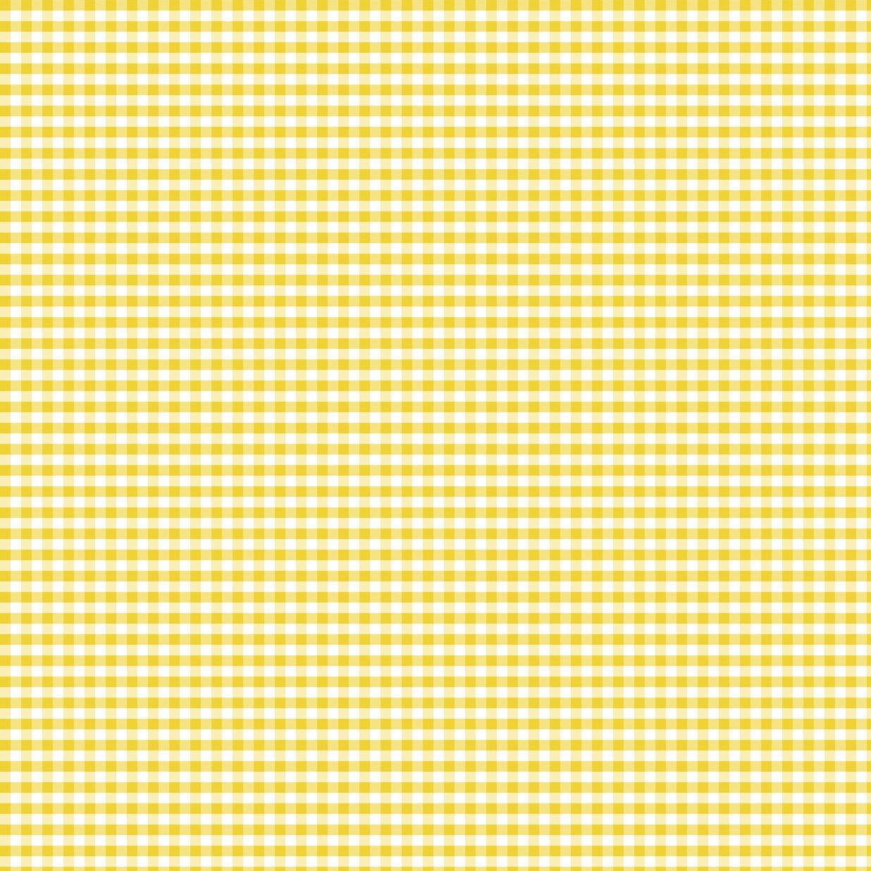 Coton vichy jaune 5 mm