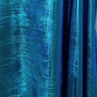 Lycra métallisé bleu