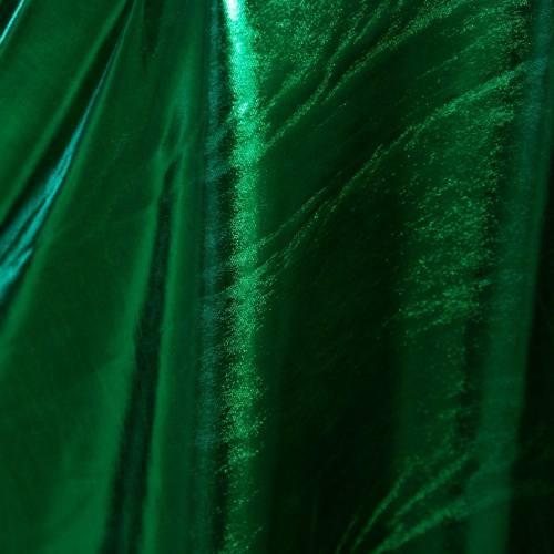 Lycra métallisé vert