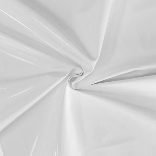Simili cuir aspect vernis blanc