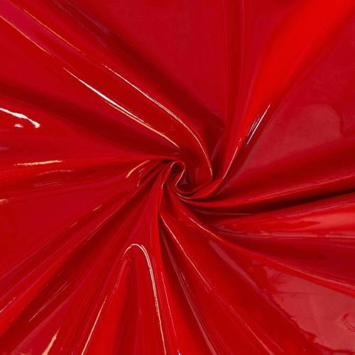 Simili cuir aspect vernis rouge