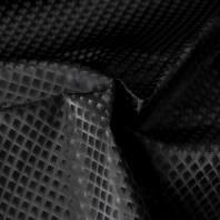 Simili cuir noir à losanges scintillants