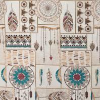 Jacquard motif indien multicolore
