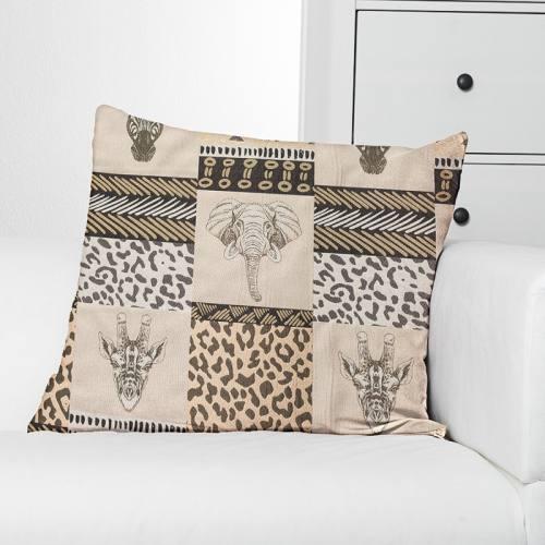 Jacquard motif animaux de la savane