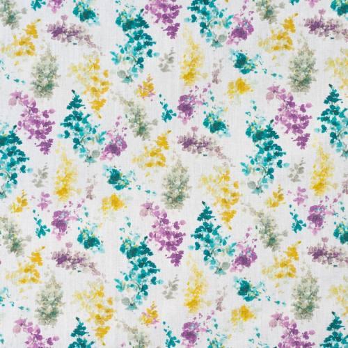 Popeline blanche imprimé petites fleurs aquarelle