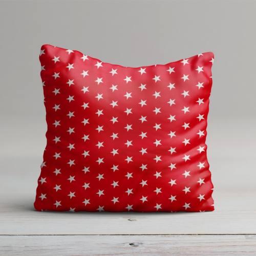 Coton rouge motifs étoiles blanches