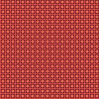 Polycoton imprimé rond et point corail