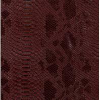 Coupon 50 x 70 cm de Simili cuir Dragon bordeaux