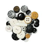 Lot de 50 g de boutons noirs et blancs
