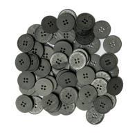 Lot d'environ 60 boutons gris anthracite de 22 mm