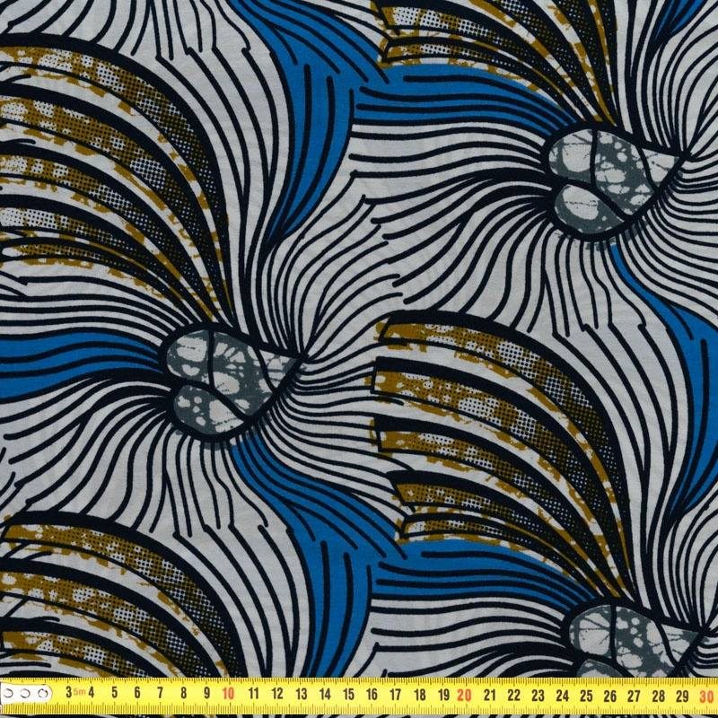 wax tissu africain motif bleu et blanc pas cher tissus price. Black Bedroom Furniture Sets. Home Design Ideas