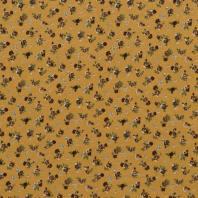 Jersey viscose moutarde imprimé fleur