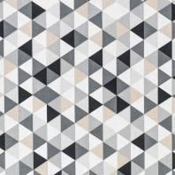 Coton motif géométriques gris