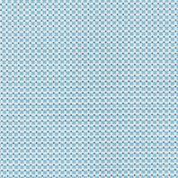 Coton blanc motif croix bleu ciel et points bleu marine
